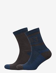 2PK Retro Wool Sock - DENIM