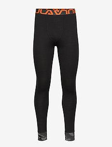 CAMO MERINO WOOL  PANT - underdeler - black