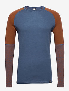GEO MERINO WOOL SLEEVECREW - base layer overdeler - walnut