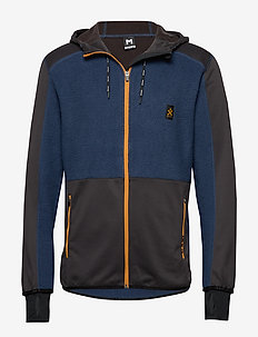 Fleece Zip Hood - DENIM