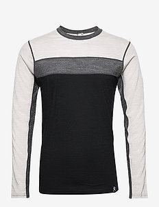 Retro wool Crew - base layer overdeler - black