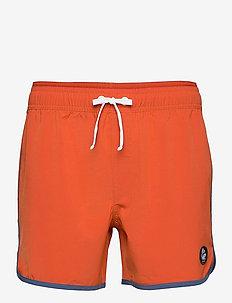 Burn Shorts - swim shorts - brick