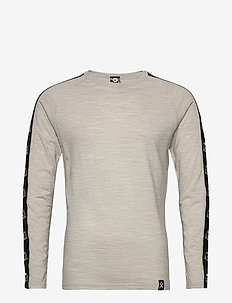 Tape Merino Wool Crew - base layer tops - greym