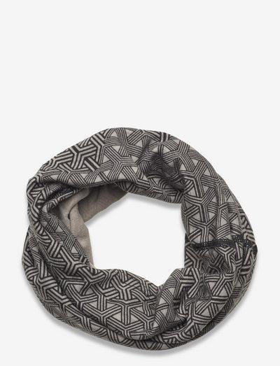 Printed Wool Tube WEB - halstørklæder - grey
