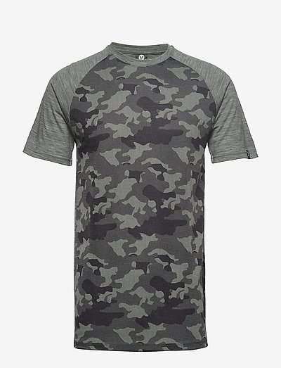 Camo Merino Wool Tee - t-shirts - dolive