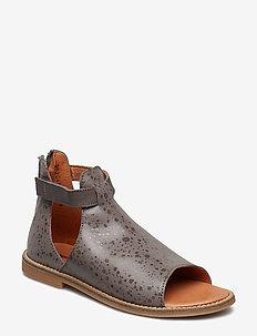 Lacy - sandals - grey spots