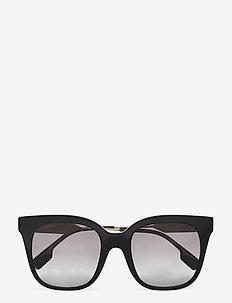 Sunglasses - d-shaped - grey gradient