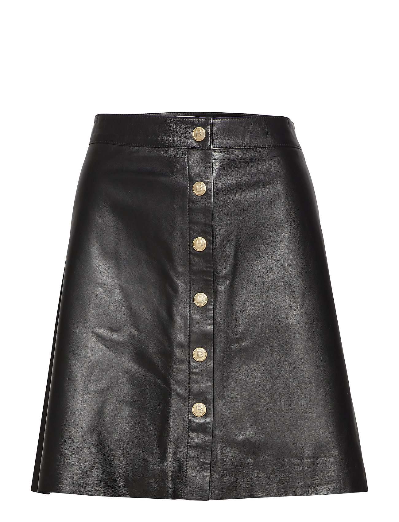 BUSNEL Alia leather skirt - BLACK