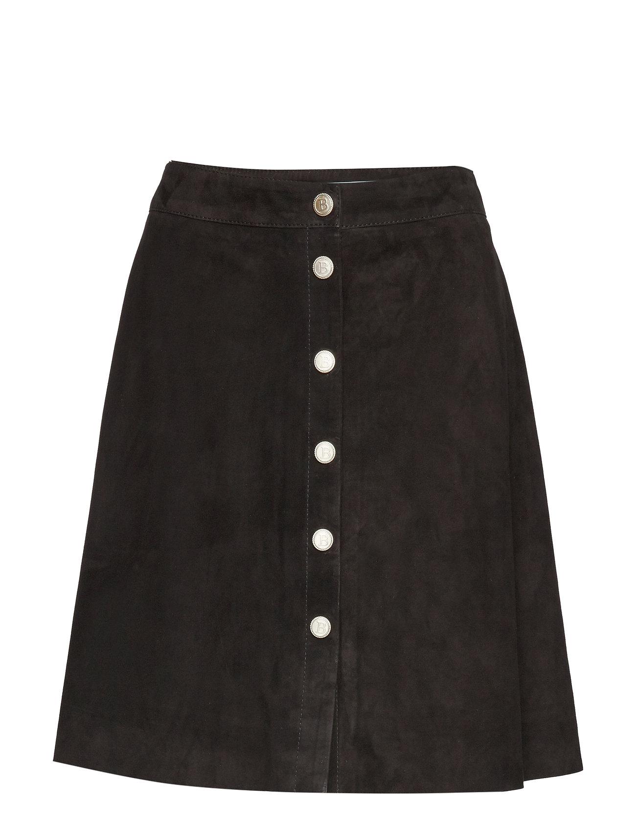 BUSNEL Selina suede skirt - BLACK