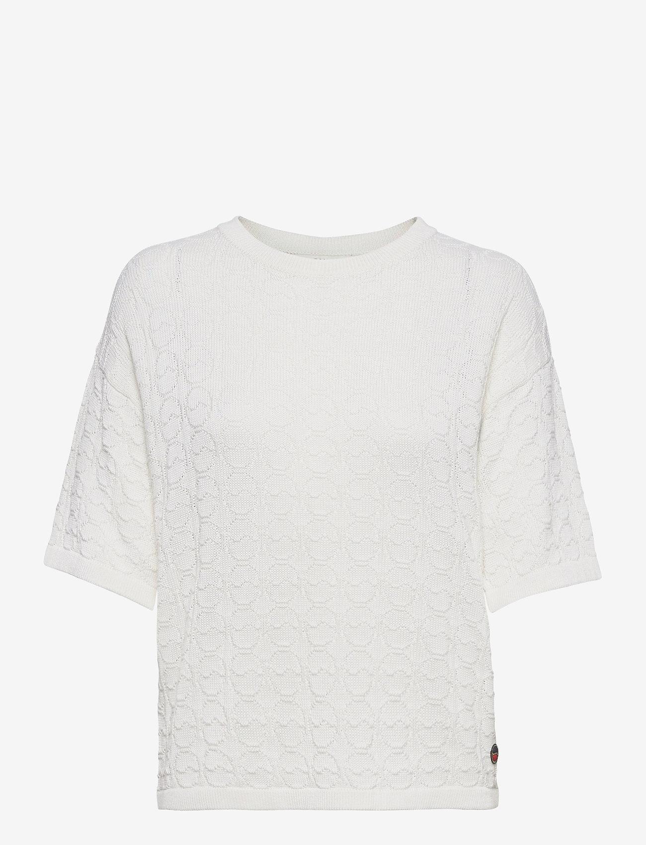 BUSNEL - Christelle top - gebreide t-shirts - white - 0