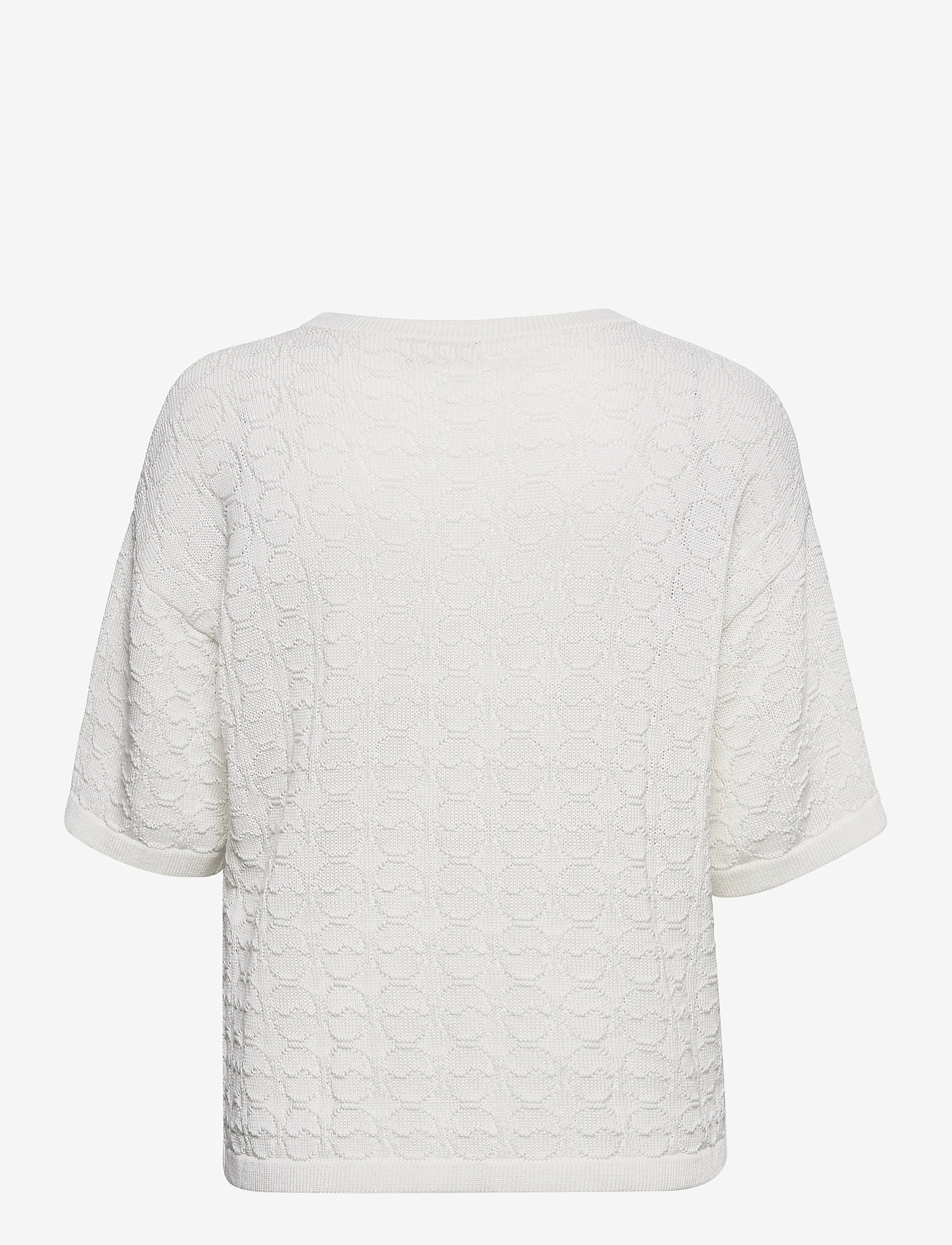 BUSNEL - Christelle top - gebreide t-shirts - white - 1