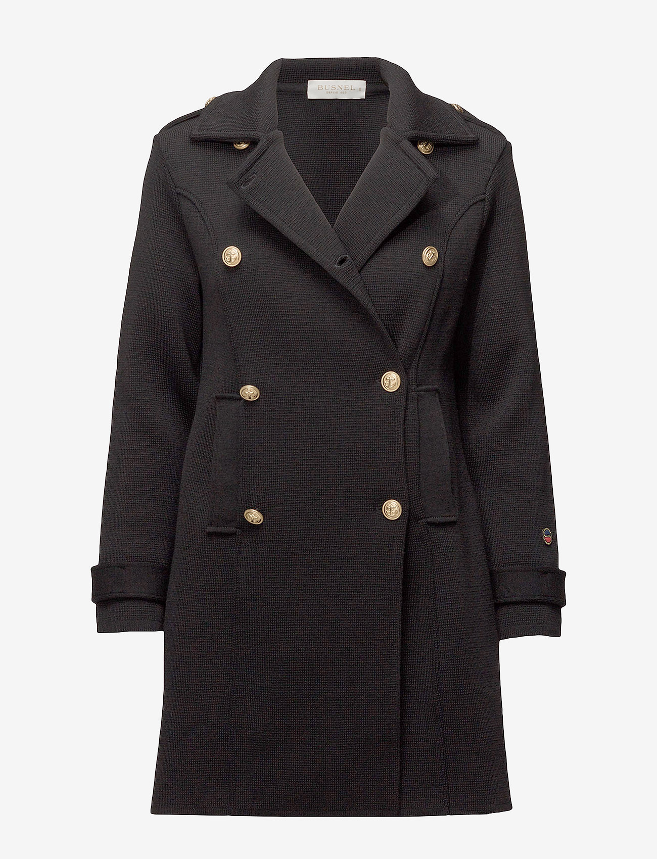 BUSNEL - Marina coat - wollen jassen - black - 0