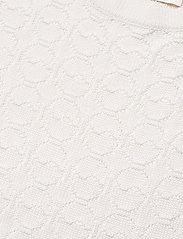 BUSNEL - Christelle top - gebreide t-shirts - white - 2