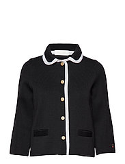 Sainte colombe jacket - BLACK WITH FOAM WHITE LINE