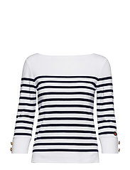 Tronchet top - CLEAR WHITE / MARINE STRIPE