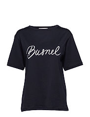 Trinité T-shirt - MARINE WITH WHITE PRINT