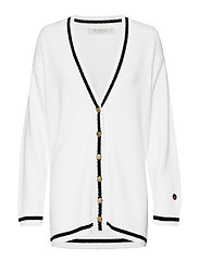 Parmentier cardigan - FOAM WHITE WITH BLACK LINE