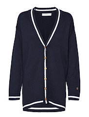 Parmentier cardigan - MARINE WITH FOAM WHITE LINE