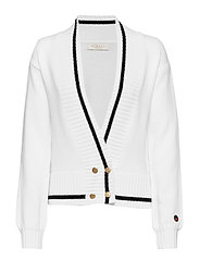Pasteur cardigan - FOAM WHITE WITH BLACK LINE