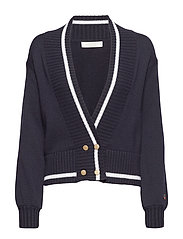Pasteur cardigan - MARINE WITH FOAM WHITE LINE