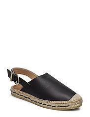 Ponta espadrille sandals - BLACK