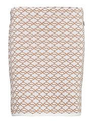 Filippa skirt - SALTY CARAMEL/FOAM WHITE