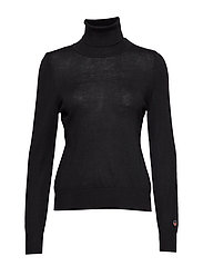 Alice rollerneck sweater - BLACK