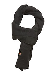 Medina scarf - BLACK LOGO KNIT