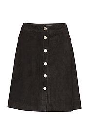 Selina suede skirt - BLACK