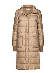 Heloise down coat - CAMEL