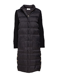 Celia down coat - BLACK