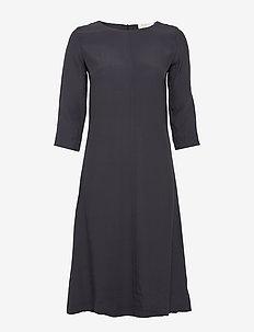 Anita dress - do kolan & midi sukienki - midnight blue