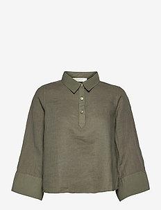Manelle shirt - blouses à manches longues - olive