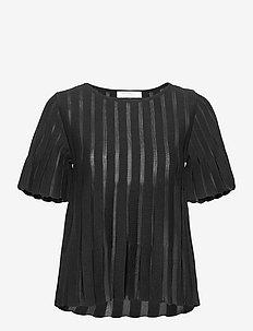 Cattie top - blouses met korte mouwen - black