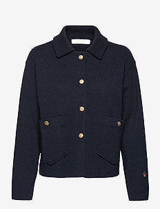Nina jacket - wool jackets - marine