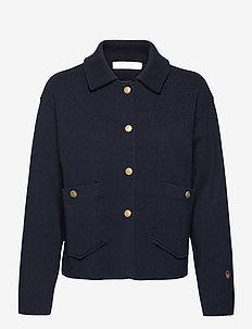 Nina jacket - vestes en laine - marine