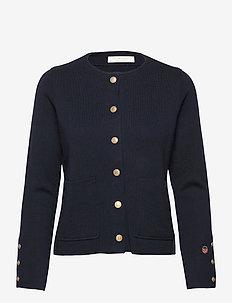 Nilla bis jacket - cardigans - marine
