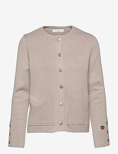 Nilla bis jacket - cardigans - sand