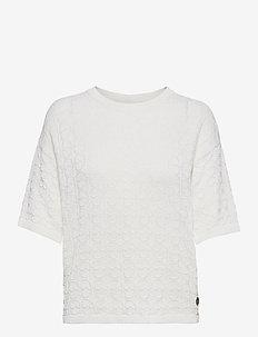 Christelle top - gebreide t-shirts - white