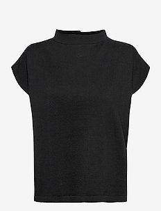 Lucienne top - short-sleeved blouses - black