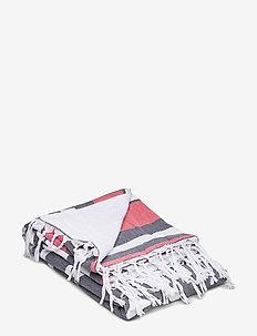 Hammam Towel - WHITE/LIGHT RED/MARIN