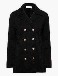 Indra jacket - wool jackets - black