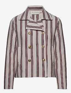 Indra jacket - wool jackets - nougat stripe