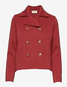 Indra jacket - wełniane kurtki - sunbleached red