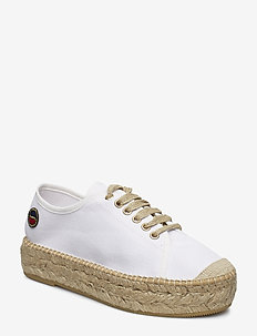 Branco lace up espadrilles shoes - CLEAR WHITE