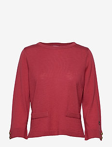 Vanja top - basic t-shirts - sunbleached red
