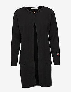 Vega coat - cardigans - black