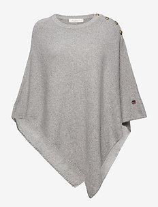 Pomerol poncho - poncza & peleryny - light grey melange
