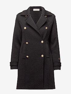 Marina coat - wełniane płaszcze - black