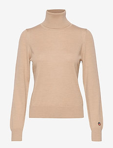 Alice rollerneck sweater - CAMEL